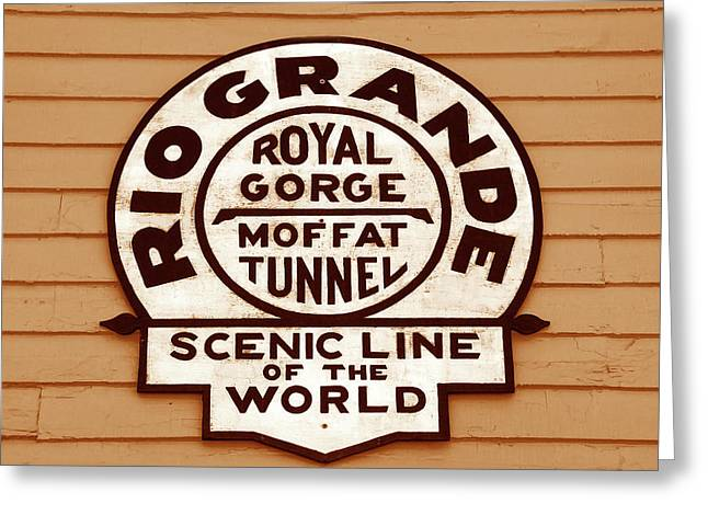Scenic Line Of The World Greeting Card by David Lee Thompson