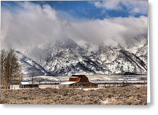Greeting Card featuring the photograph Scenic Mormon Homestead by Adam Jewell