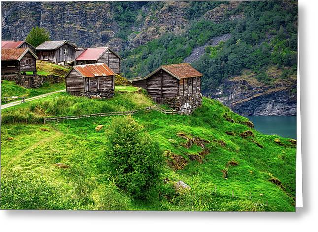 Scenic Norway Greeting Card by Jon Flobrant
