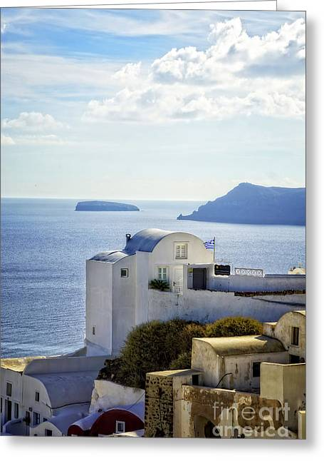 Scenic Oia Greeting Card
