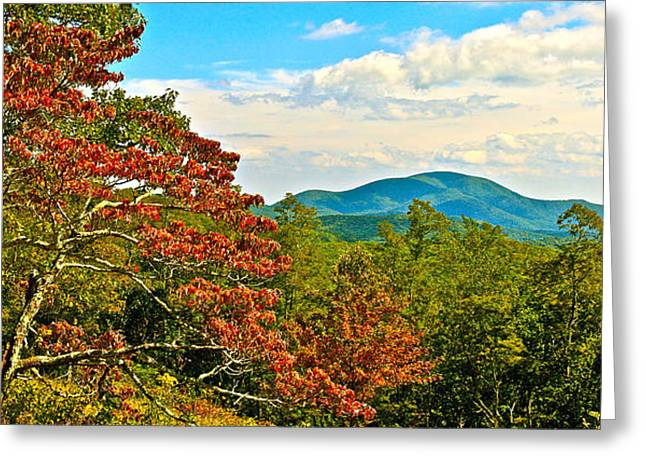 Scenic Overlook Blue Ridge Parkway Greeting Card
