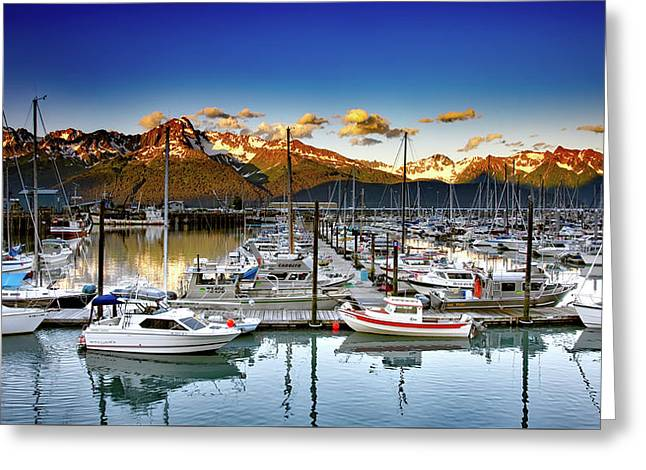 Scenic Seward Alaska Greeting Card by Mountain Dreams
