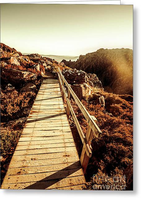 Scenic Summit Boardwalk Greeting Card