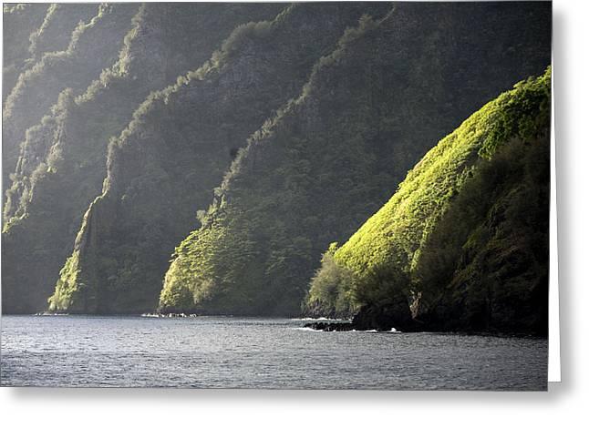 Scenic View Of Bay Of Virgins, Fatu Greeting Card