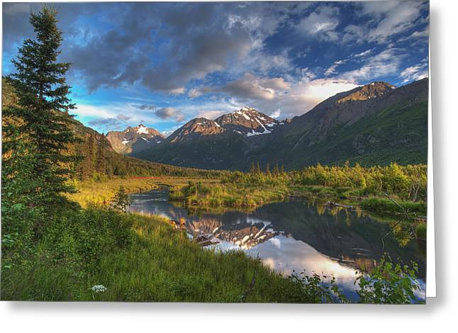 Scenic View Of Eagle River Valley Greeting Card by Michael Jones
