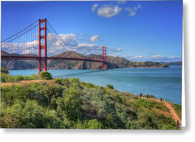 Scenic View Of Golden Gate Bridge - San Francisco, Ca Greeting Card by Jennifer Rondinelli Reilly - Fine Art Photography