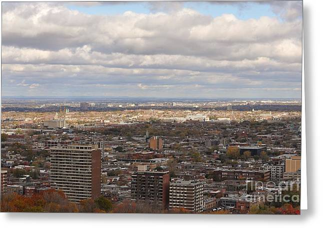 Scenic View Of Montreal Greeting Card by Reb Frost