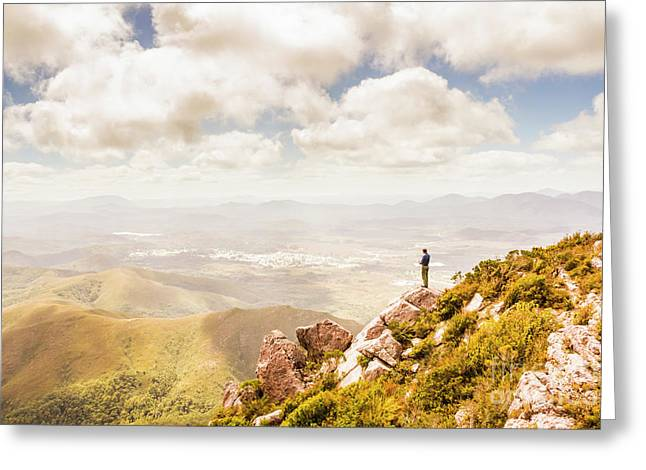 Scenic View Of Mt Zeehan, Tasmania, Australia Greeting Card