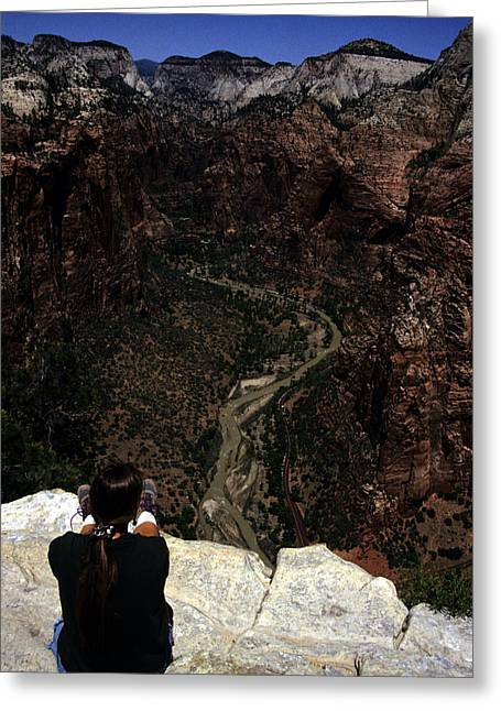Scenic View Of Zion National Park Greeting Card by Stacy Gold