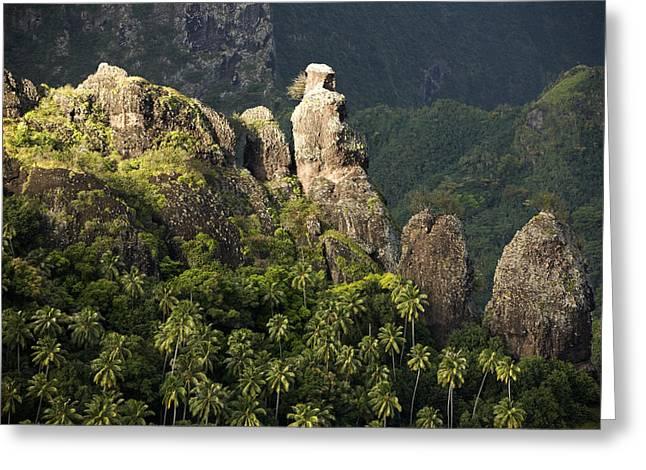 Scenic Views On Fatu Hiva Island Greeting Card