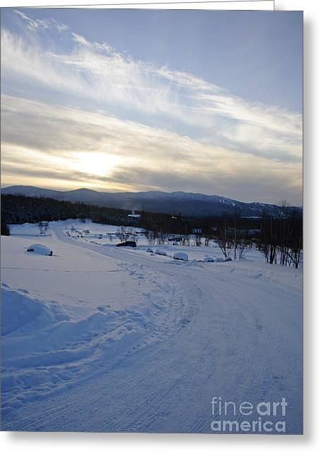 Scenic Vista From Marshfield Station In The White Mountains New Hampshire Usa Greeting Card by Erin Paul Donovan