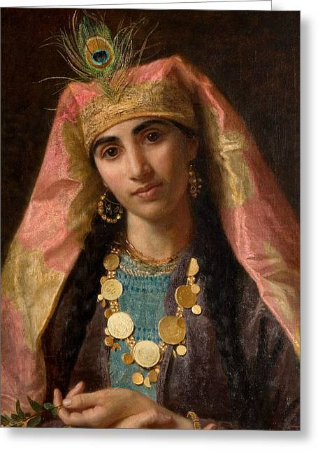 Scheherazade Greeting Card by Sophie Gengembre Anderson