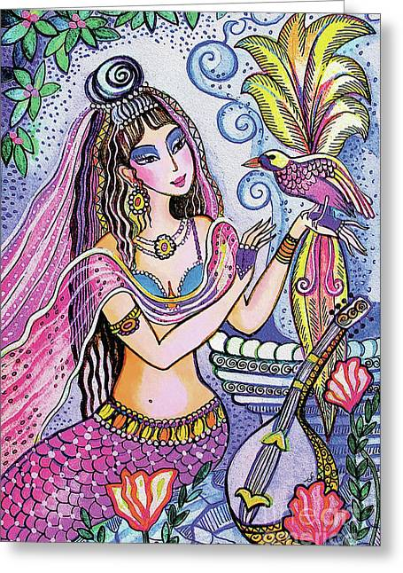 Scheherazade's Bird Greeting Card