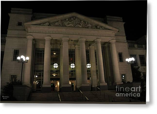 Schermerhorn Symphony Center In Nashville Tn Greeting Card by Wanda-Lynn Searles