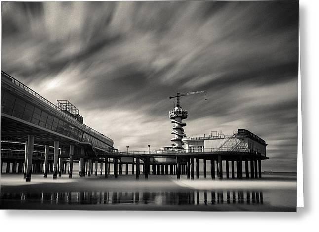 Scheveningen Pier 2 Greeting Card by Dave Bowman