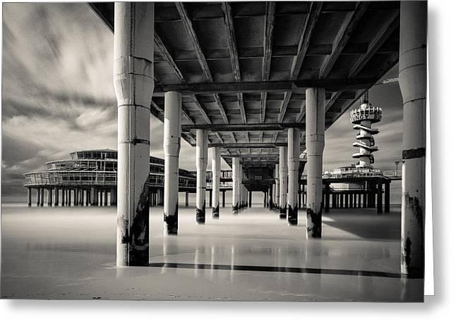 Scheveningen Pier 3 Greeting Card by Dave Bowman
