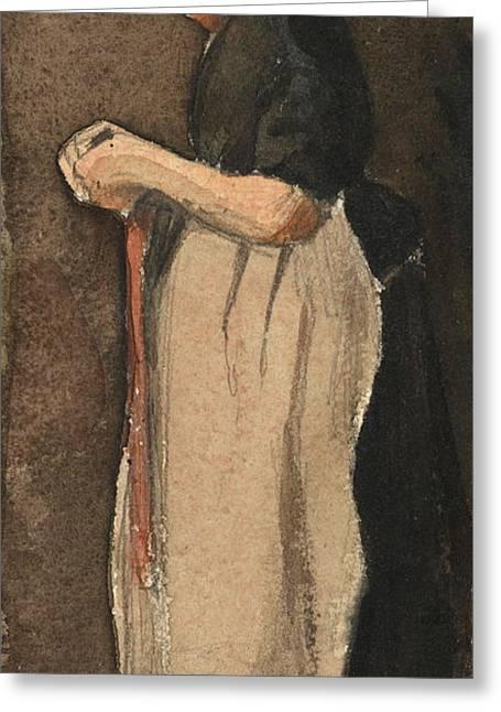 Scheveningen Woman, 1881 Greeting Card
