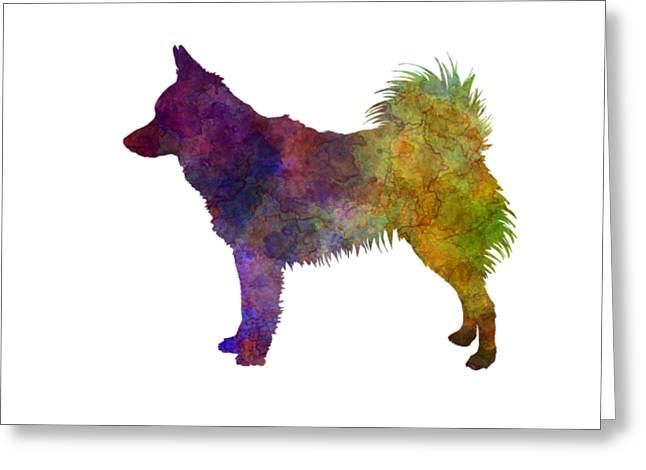 Schipperke In Watercolor Greeting Card by Pablo Romero