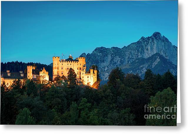 Greeting Card featuring the photograph Schloss Hohenschwangau by Brian Jannsen