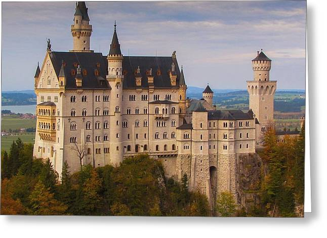 Greeting Card featuring the photograph Schloss Neuschwanstein by Franziskus Pfleghart