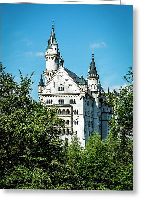 Schloss Neuschwantstein Greeting Card by David Morefield