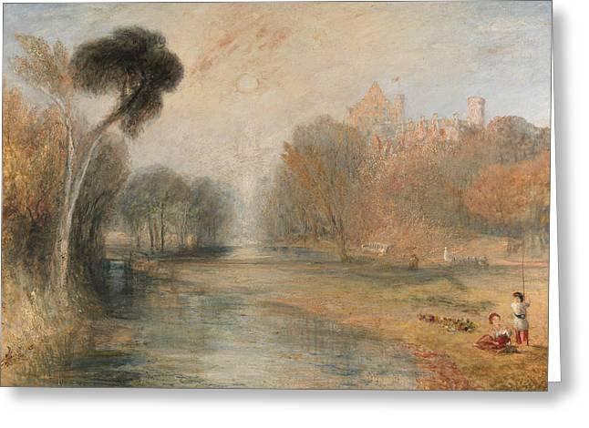 Schloss Rosenau Coburg Greeting Card by Joseph Mallord William Turner