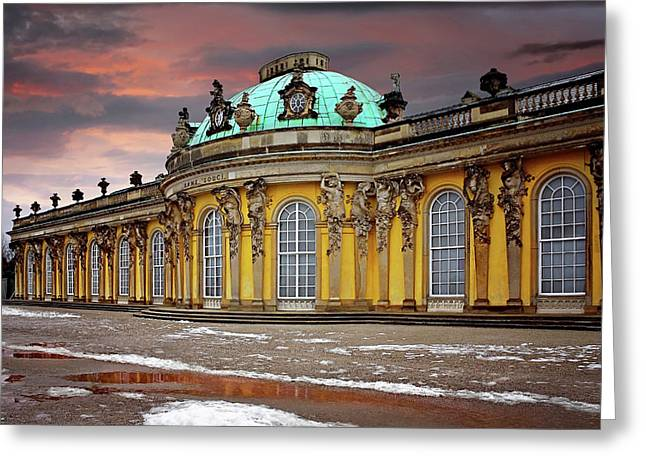 Schloss Sanssouci Potsdam  Greeting Card by Carol Japp