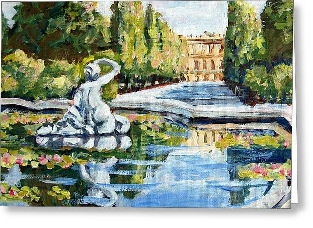 Schoenbrunn Palace Greeting Card by Alexandra Maria Ethlyn Cheshire