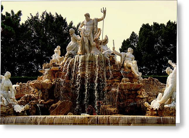 Schonbrunn Palace Fountain Greeting Card