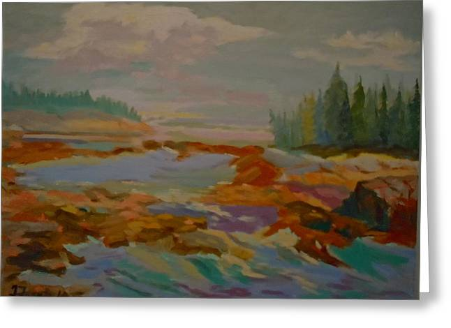 Greeting Card featuring the painting Schoodic Inlet 2 by Francine Frank