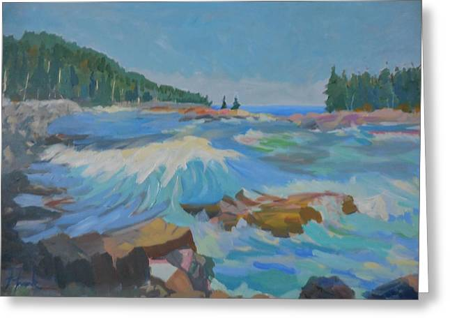 Schoodic Inlet Greeting Card by Francine Frank