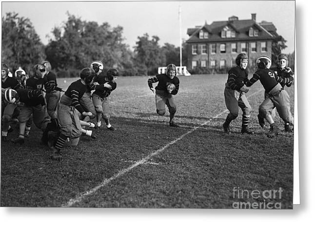 School Football Team, C.1930s Greeting Card