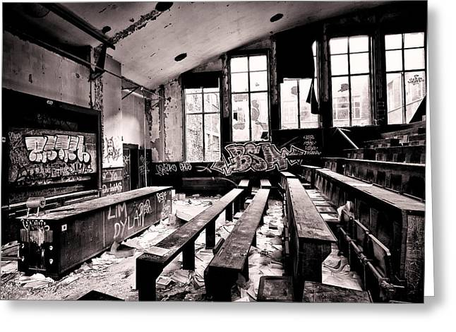 School Is Out - Urban Decay Greeting Card by Dirk Ercken