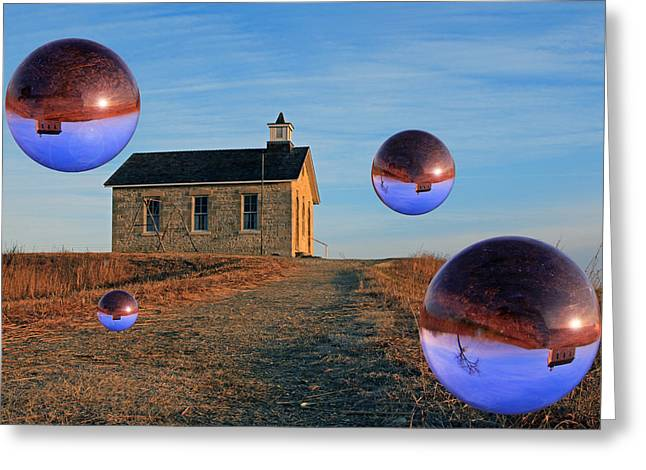 School House Visitors Greeting Card