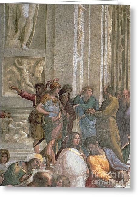 School Of Athens, From The Stanza Della Segnatura Greeting Card by Raphael