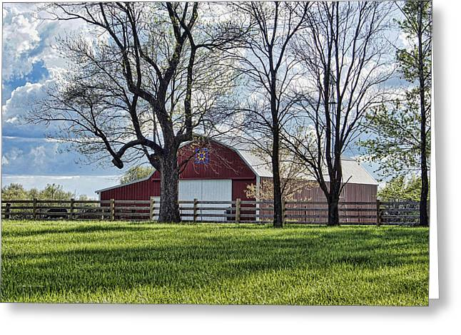 Schooler Road Barn Greeting Card by Cricket Hackmann