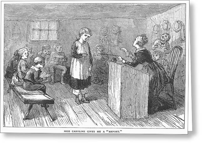 Grammar School Greeting Cards - Schoolhouse, 1877 Greeting Card by Granger