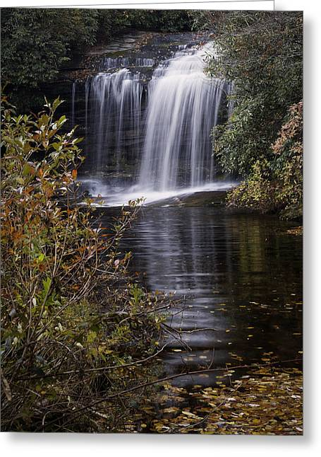 Autumn Photographs Photographs Greeting Cards - Schoolhouse Falls Greeting Card by Rob Travis