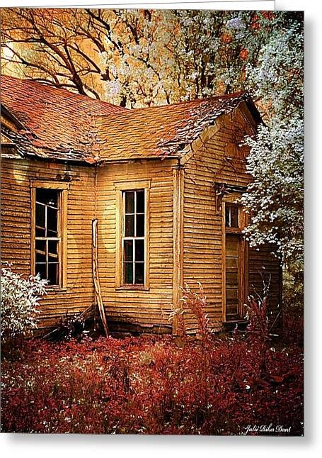 Schoolhouse In The Spring Greeting Card by Julie Dant