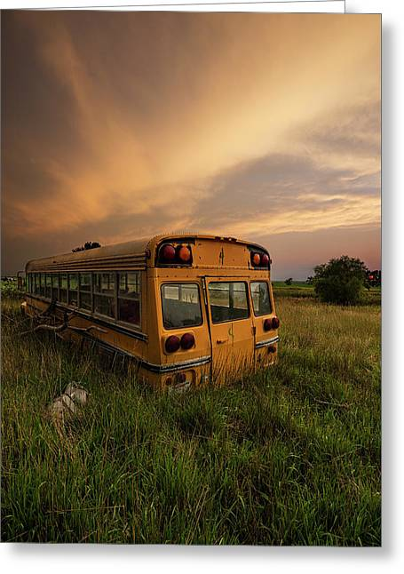 Greeting Card featuring the photograph School's Out  by Aaron J Groen