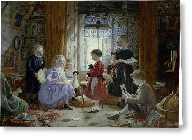 Schooltime Greeting Card by William Jabez Muckley