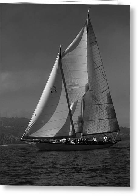 Schooner In Bay 2 Greeting Card