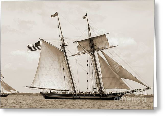 Schooners Pride Of Baltimore And Lynx Greeting Card