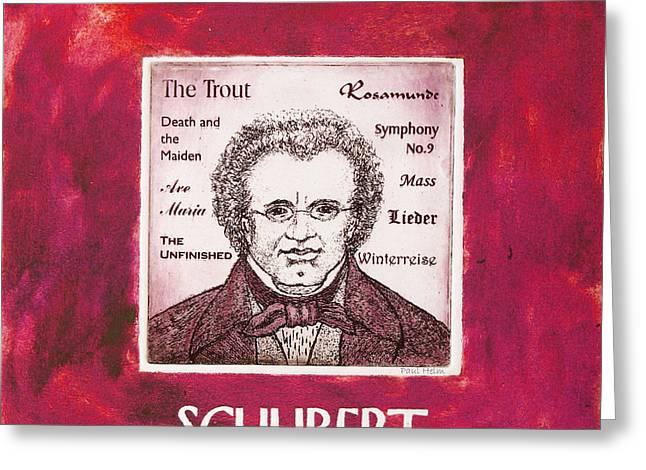 Schubert Greeting Card by Paul Helm