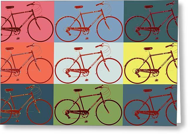 Schwinn Bicycle Pop Art Greeting Card by Dan Sproul