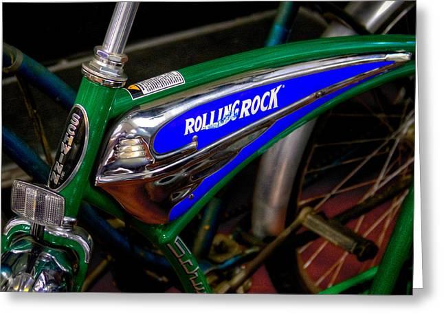 Schwinn Rolling Rock Bicycle Greeting Card