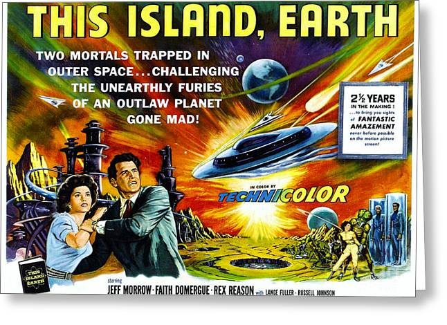 Sci-fi Movie Poster 1954 Greeting Card