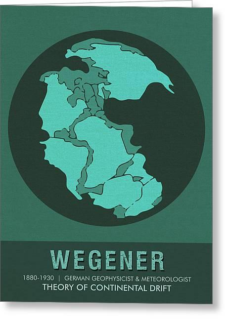 Science Posters - Alfred Wegener - Geophysicist, Meteorologist Greeting Card