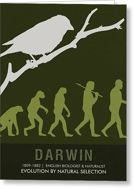 Science Posters - Charles Darwin - Biologist, Naturalist Greeting Card