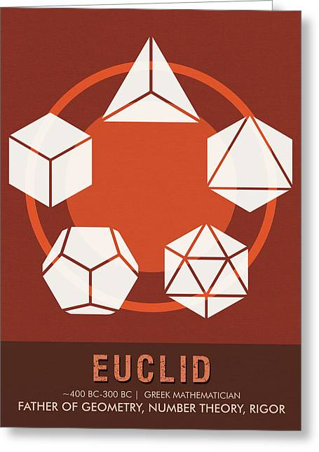 Science Posters - Euclid - Mathematician Greeting Card